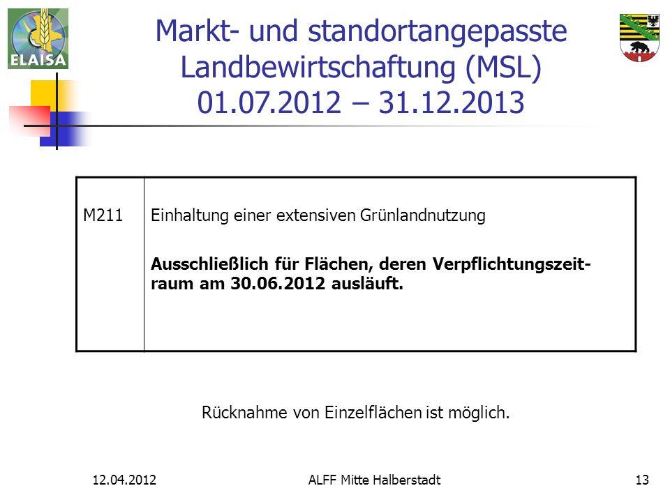 Markt- und standortangepasste Landbewirtschaftung (MSL) 01. 07