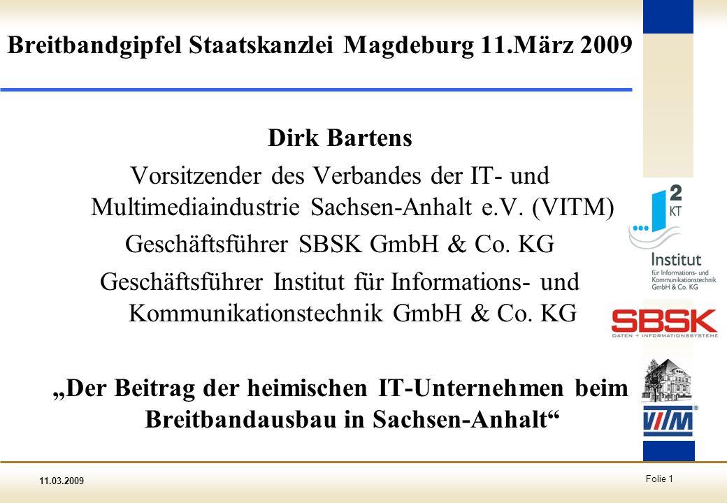Breitbandgipfel Staatskanzlei Magdeburg 11.März 2009