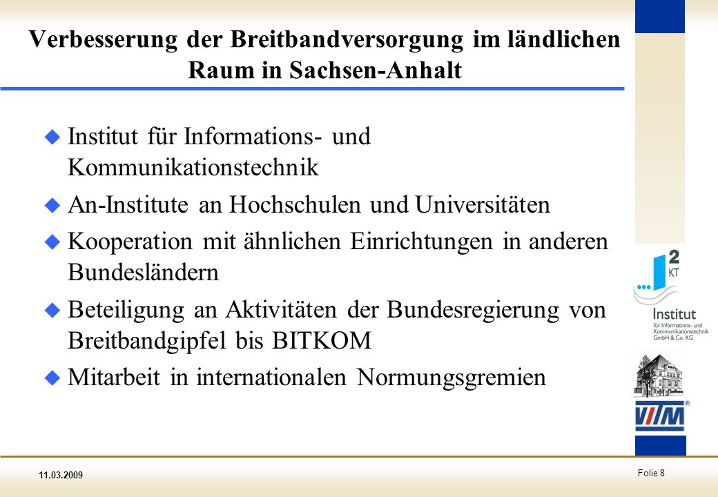 Verbesserung der Breitbandversorgung im ländlichen Raum in Sachsen-Anhalt