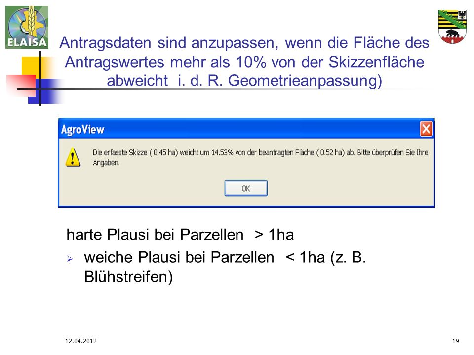 harte Plausi bei Parzellen > 1ha
