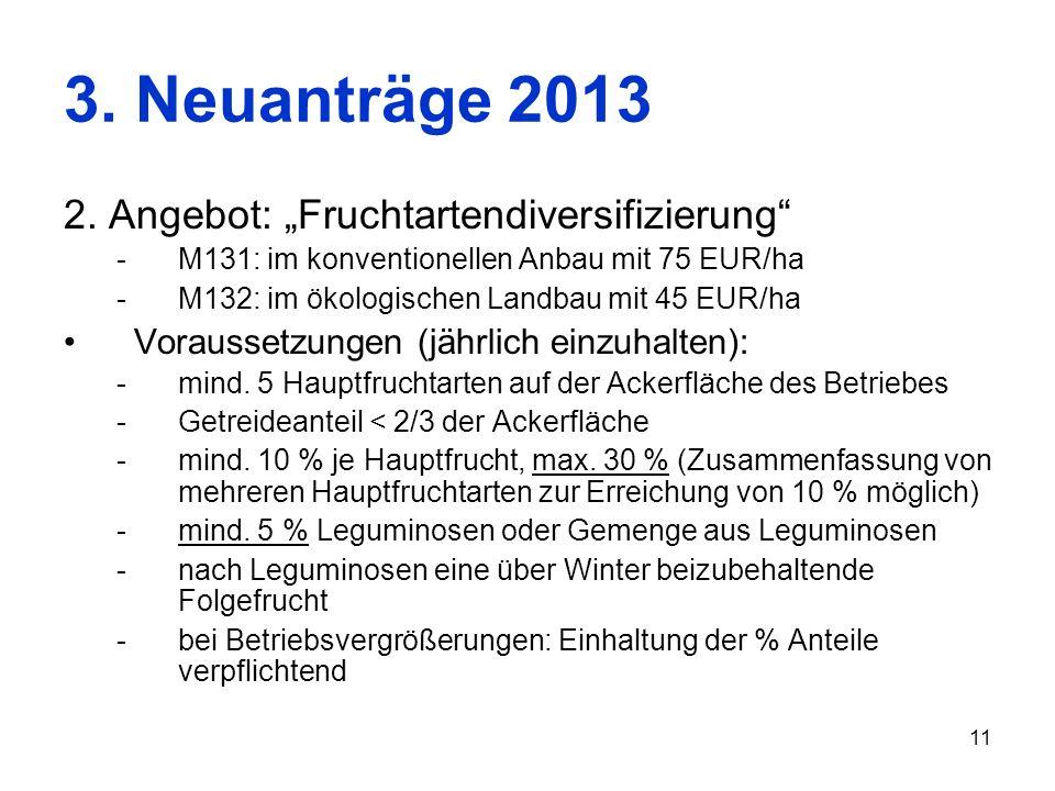 "3. Neuanträge 2013 2. Angebot: ""Fruchtartendiversifizierung"