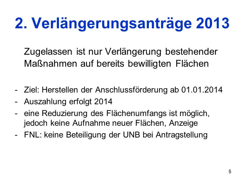 2. Verlängerungsanträge 2013