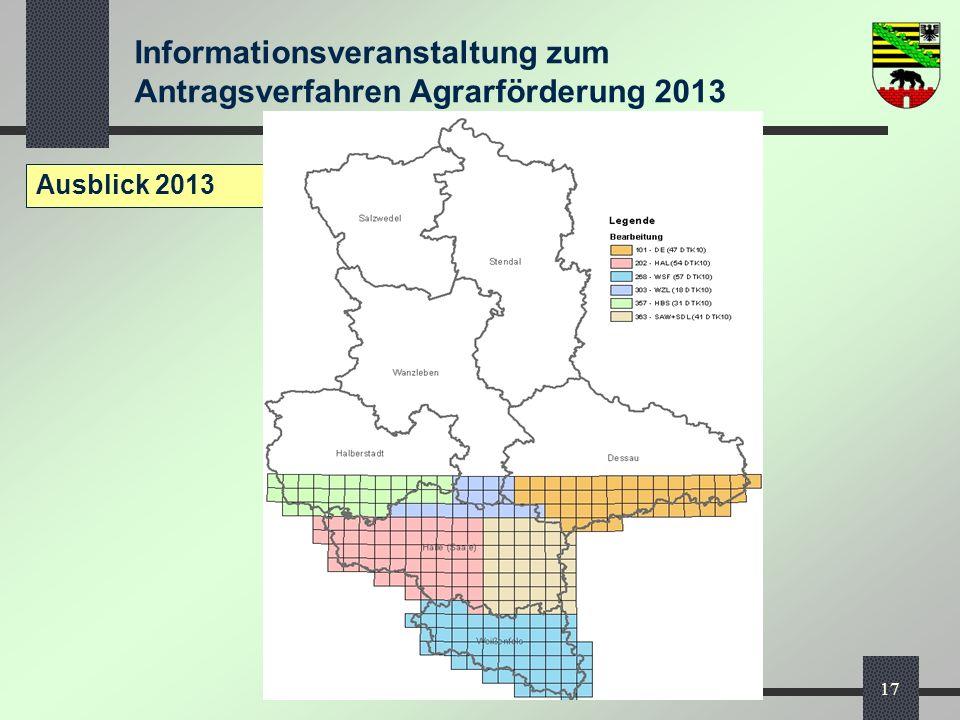 Ausblick 2013 MLU, Referat 27 - InVeKoS