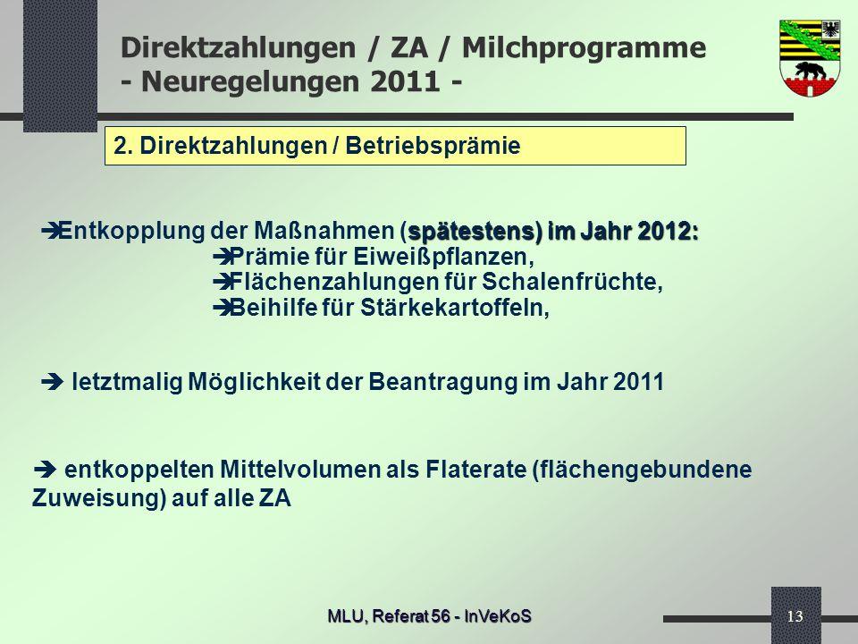 2. Direktzahlungen / Betriebsprämie