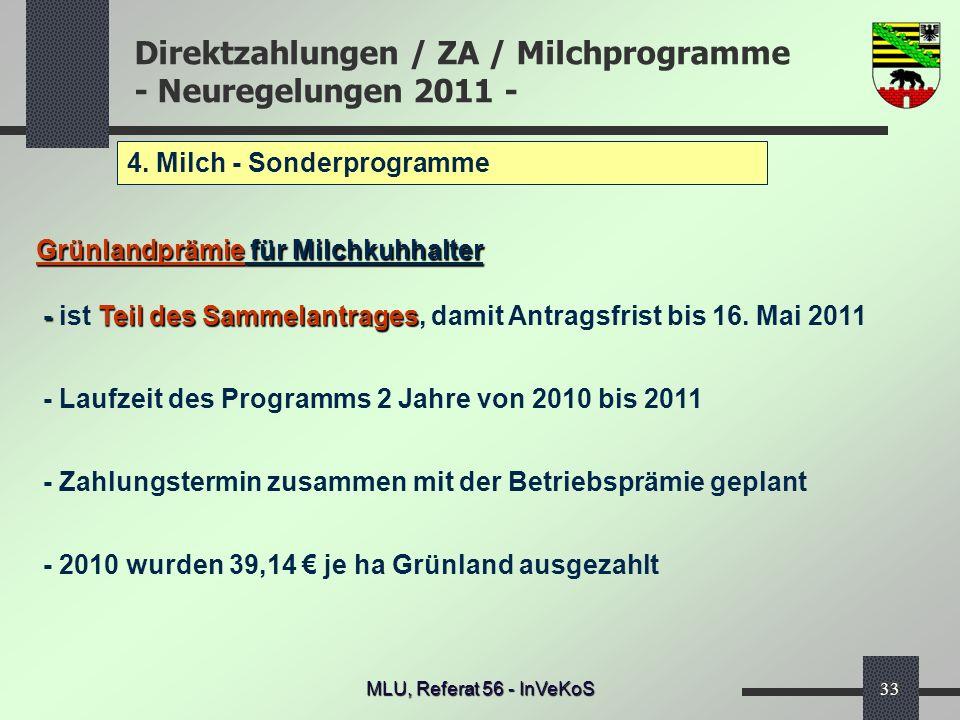 4. Milch - Sonderprogramme