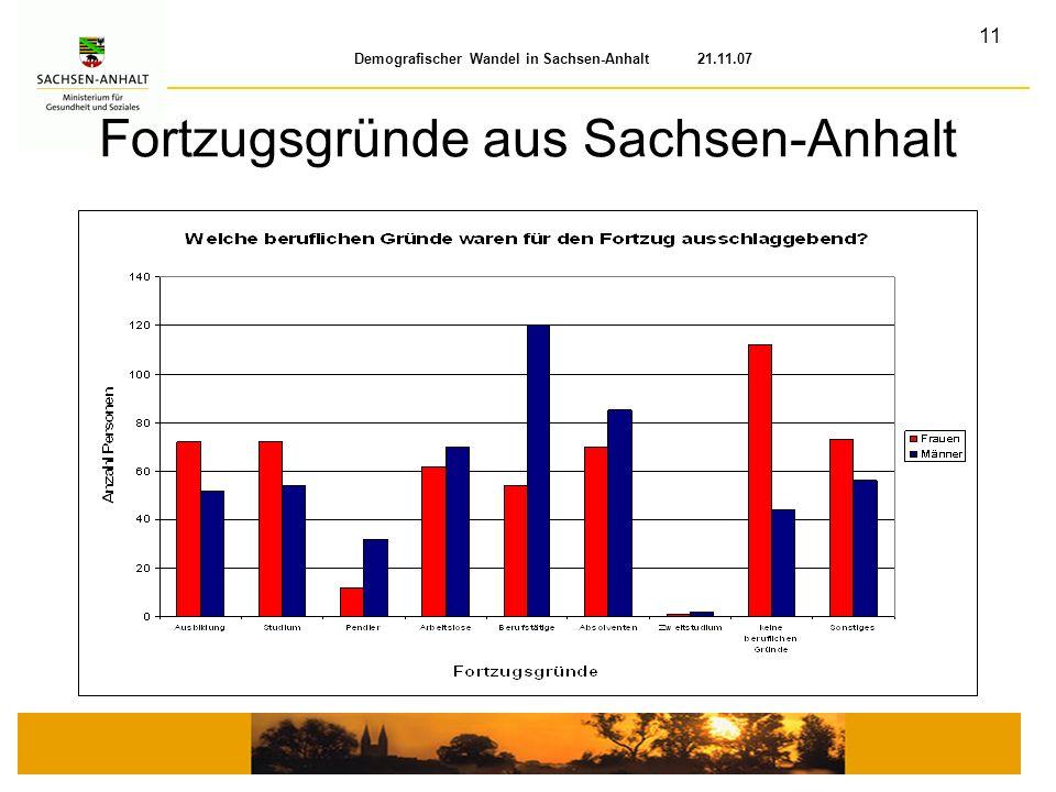 Fortzugsgründe aus Sachsen-Anhalt