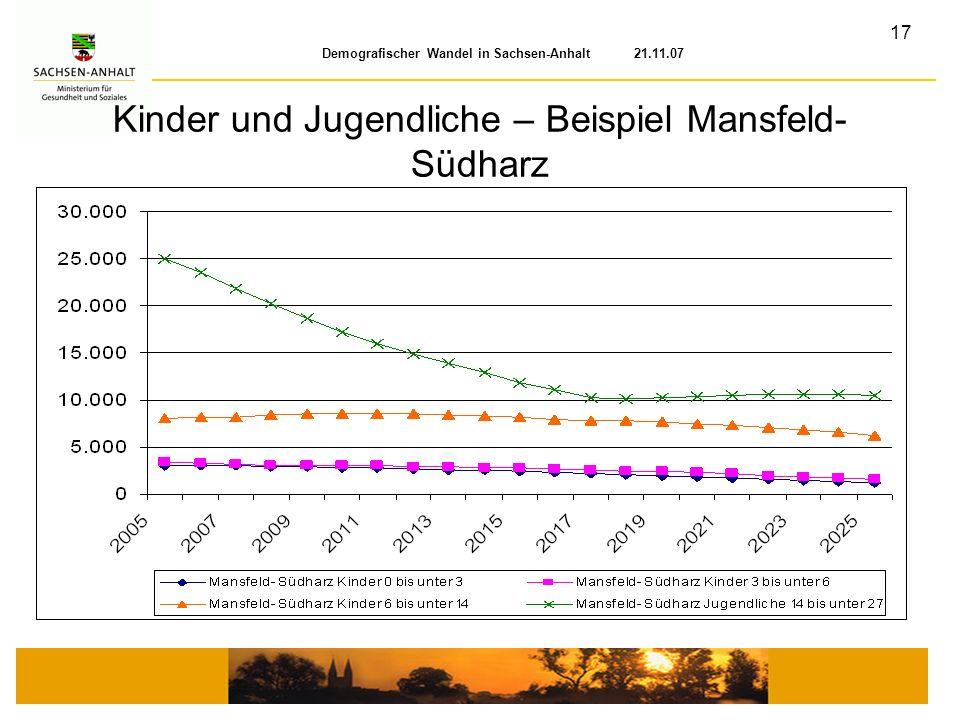 Kinder und Jugendliche – Beispiel Mansfeld-Südharz
