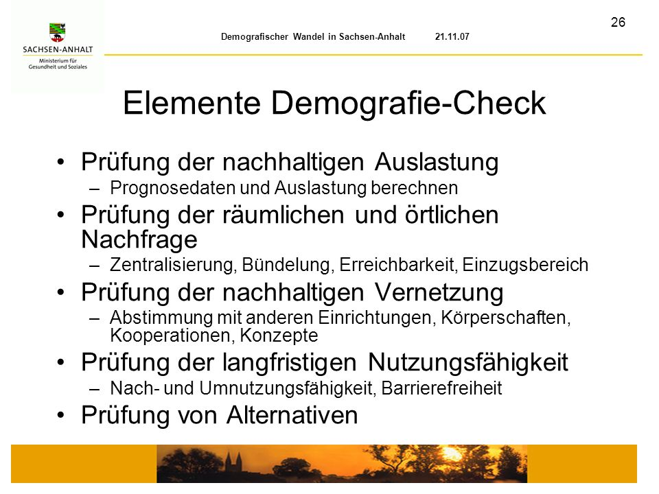 Elemente Demografie-Check
