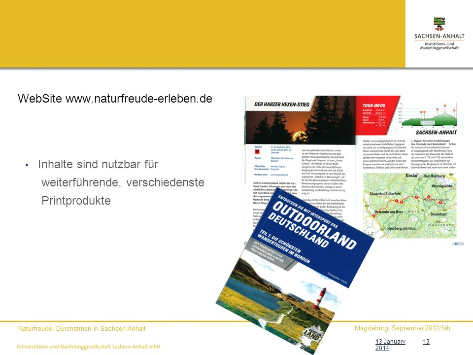WebSite www.naturfreude-erleben.de