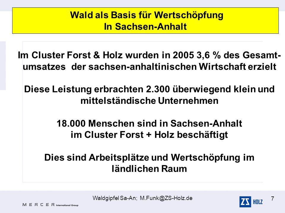 Wald als Basis für Wertschöpfung In Sachsen-Anhalt