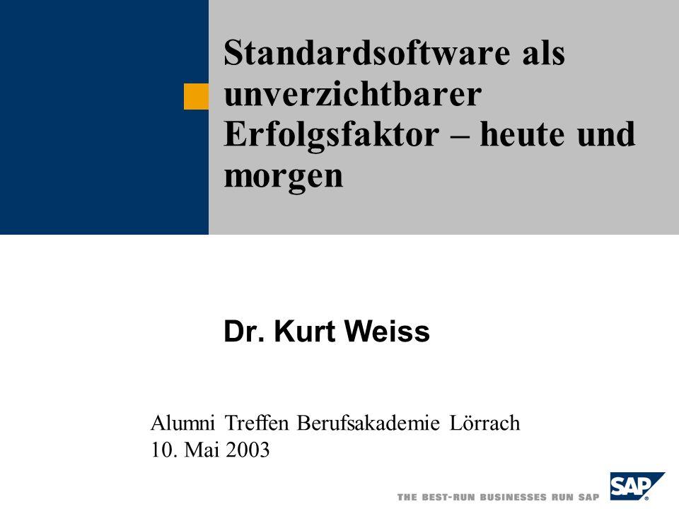Standardsoftware als unverzichtbarer Erfolgsfaktor – heute und morgen