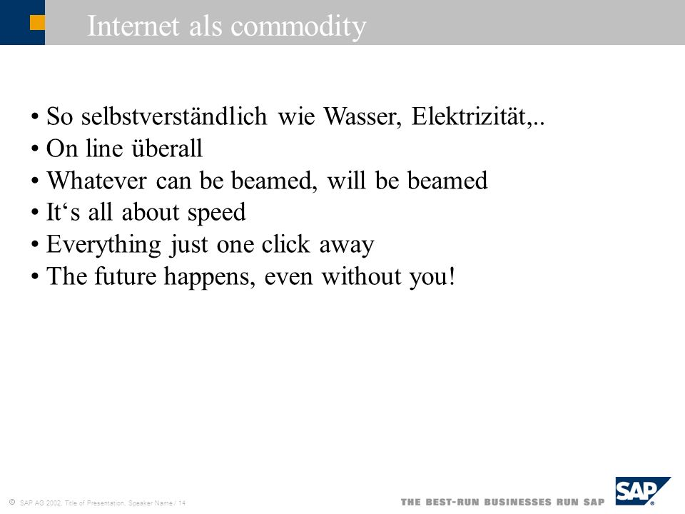 Internet als commodity
