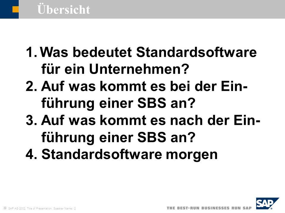 Was bedeutet Standardsoftware für ein Unternehmen