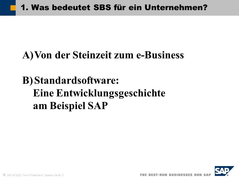 1. Was bedeutet SBS für ein Unternehmen