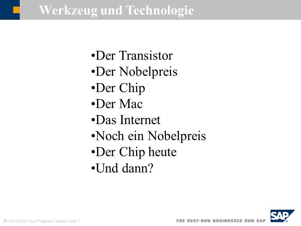 Werkzeug und Technologie