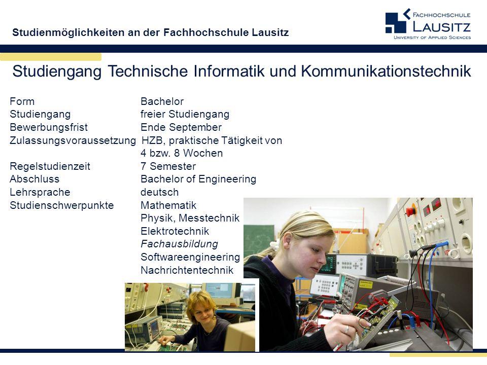 Studiengang Technische Informatik und Kommunikationstechnik