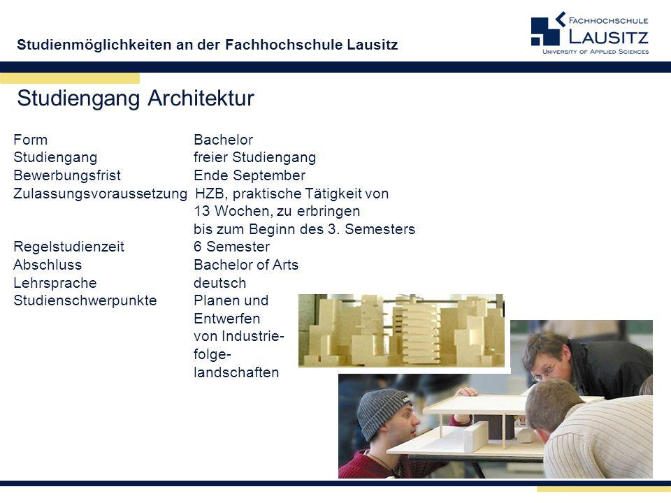 Studiengang Architektur