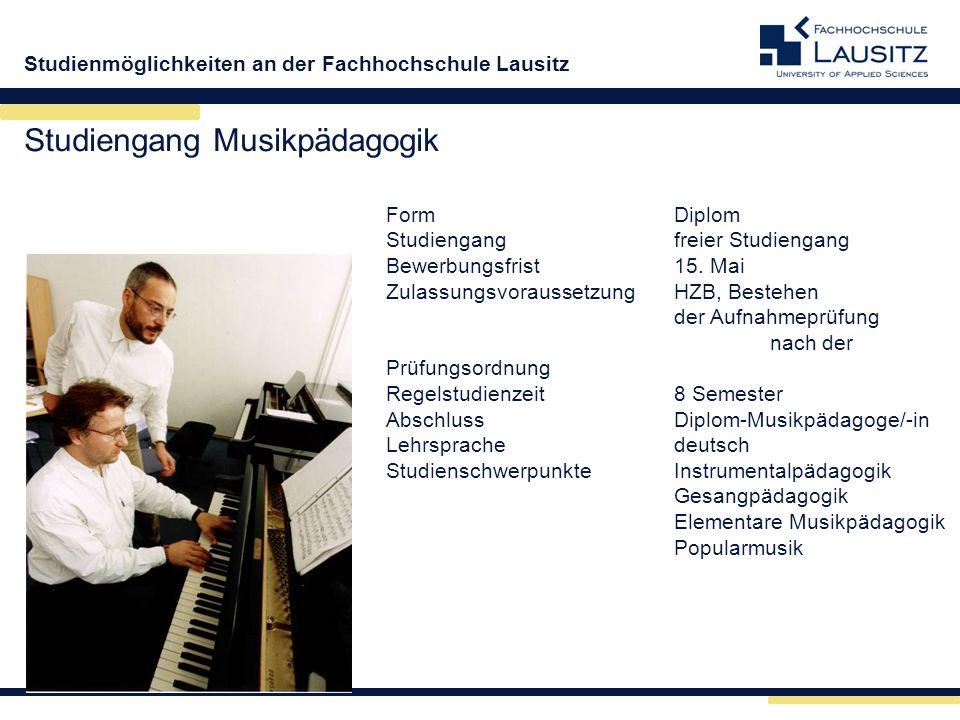 Studiengang Musikpädagogik