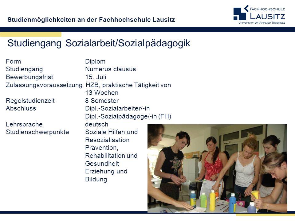 Studiengang Sozialarbeit/Sozialpädagogik