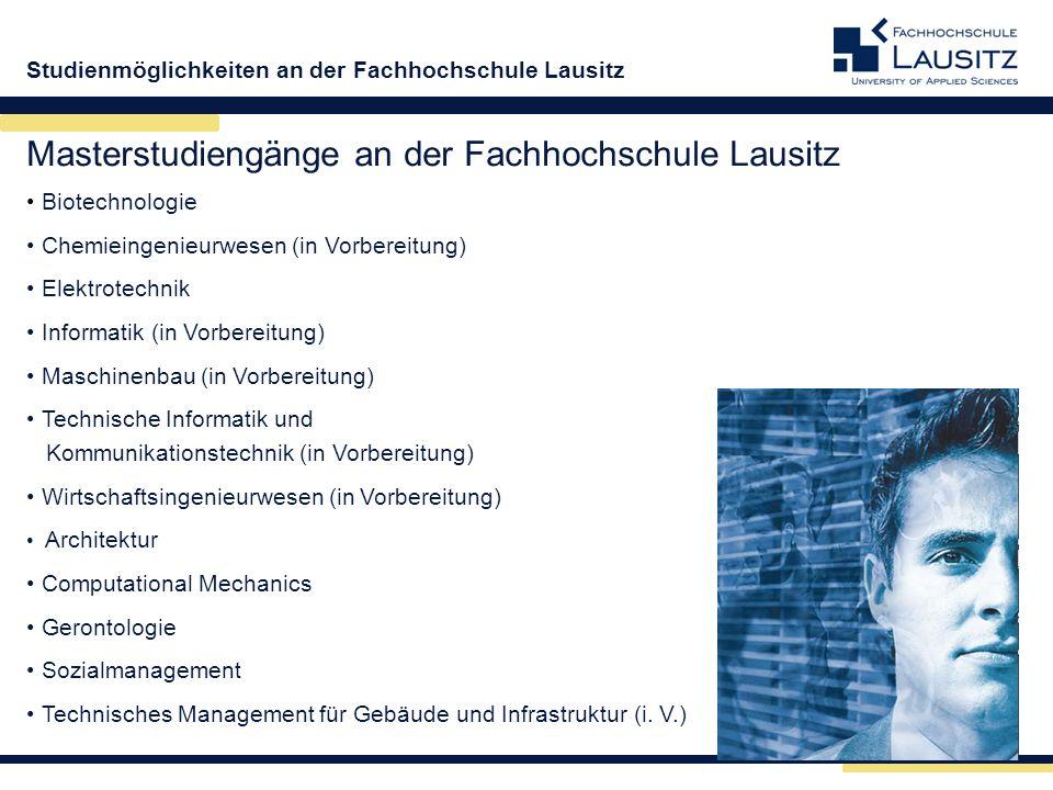 Masterstudiengänge an der Fachhochschule Lausitz