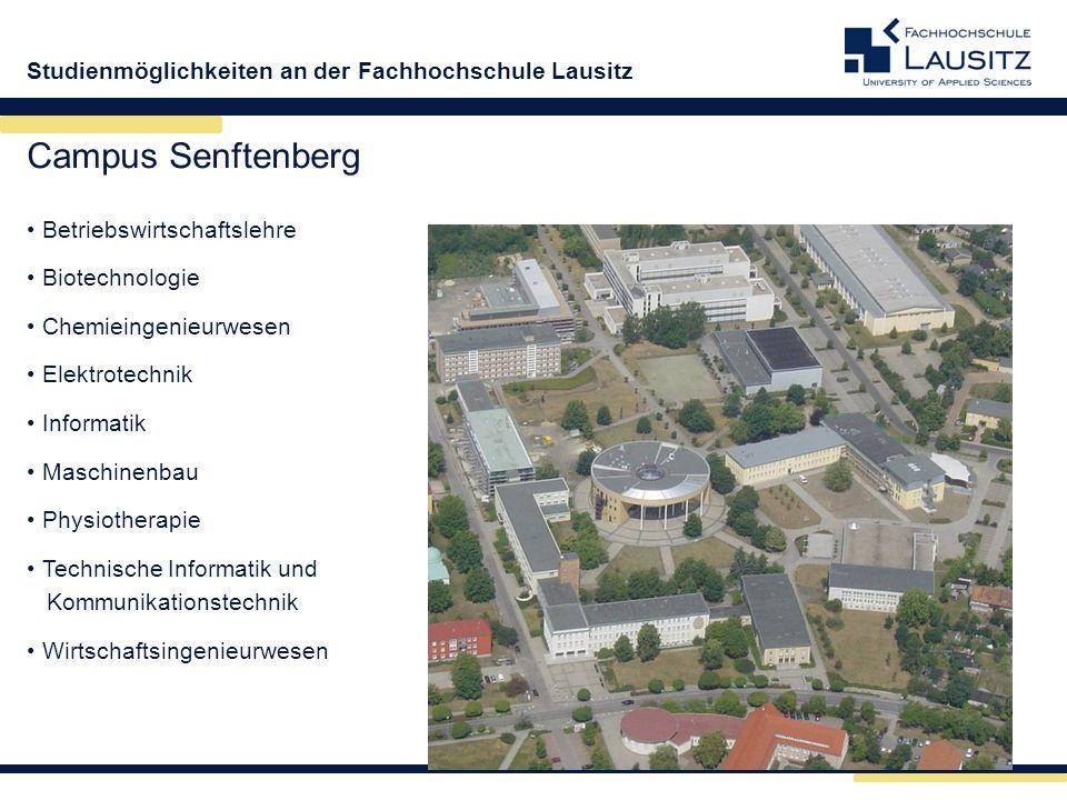 Campus Senftenberg Betriebswirtschaftslehre Biotechnologie