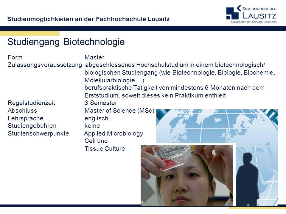 Studiengang Biotechnologie