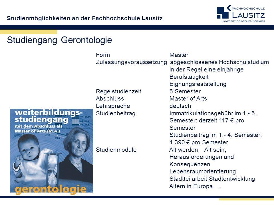 Studiengang Gerontologie