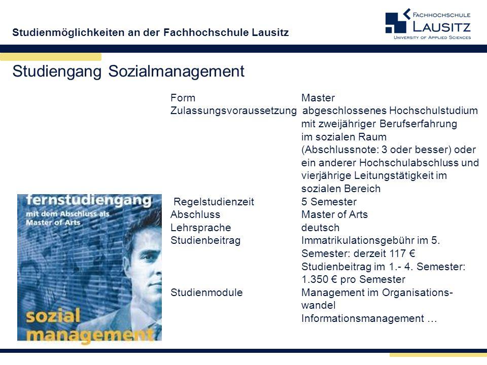 Studiengang Sozialmanagement