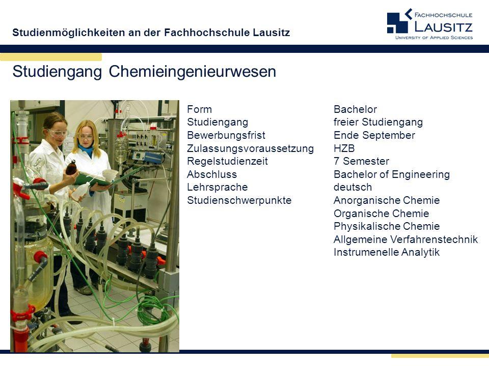 Studiengang Chemieingenieurwesen