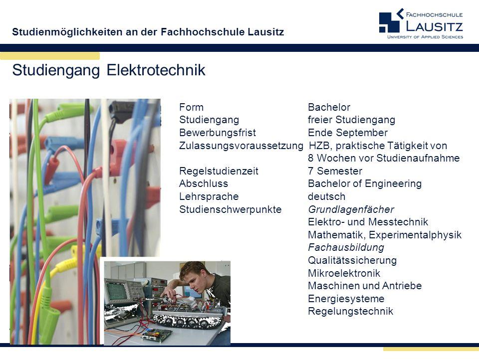 Studiengang Elektrotechnik