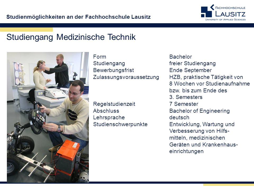 Studiengang Medizinische Technik