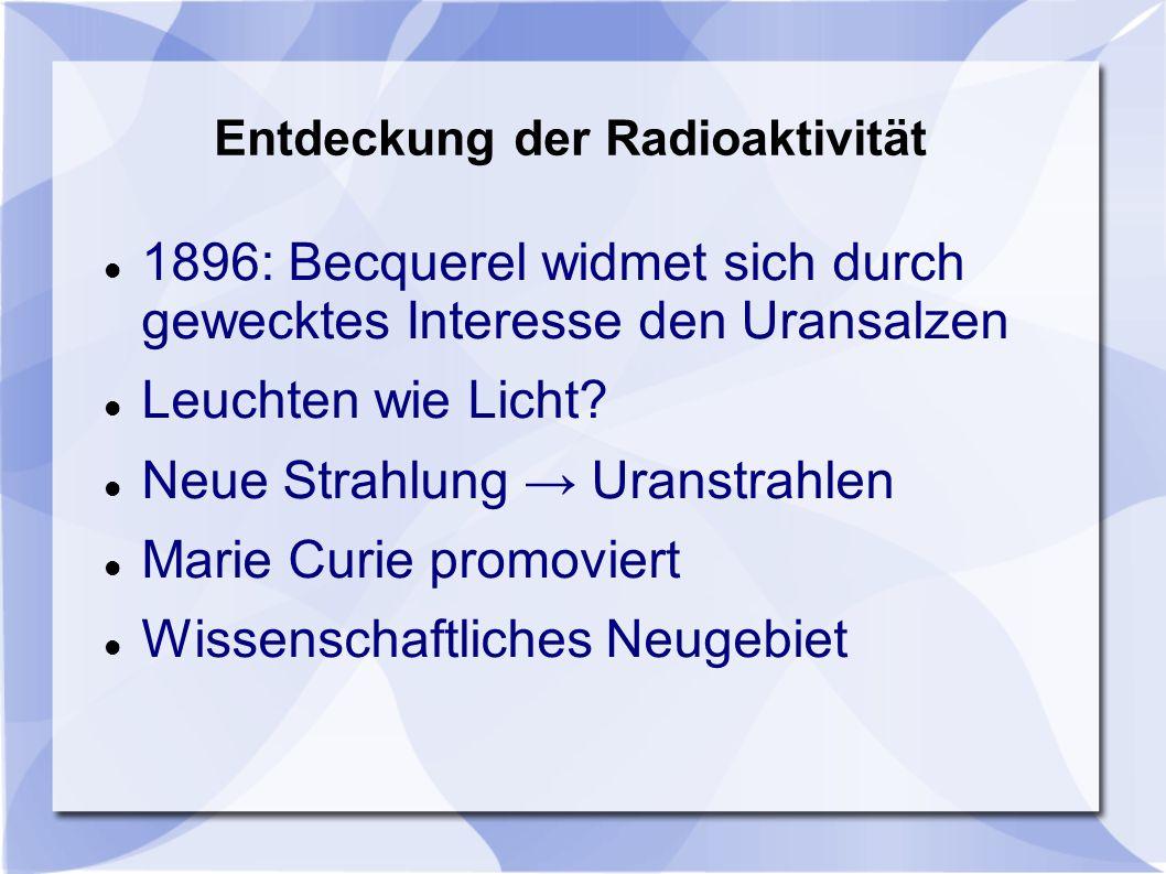 Entdeckung der Radioaktivität