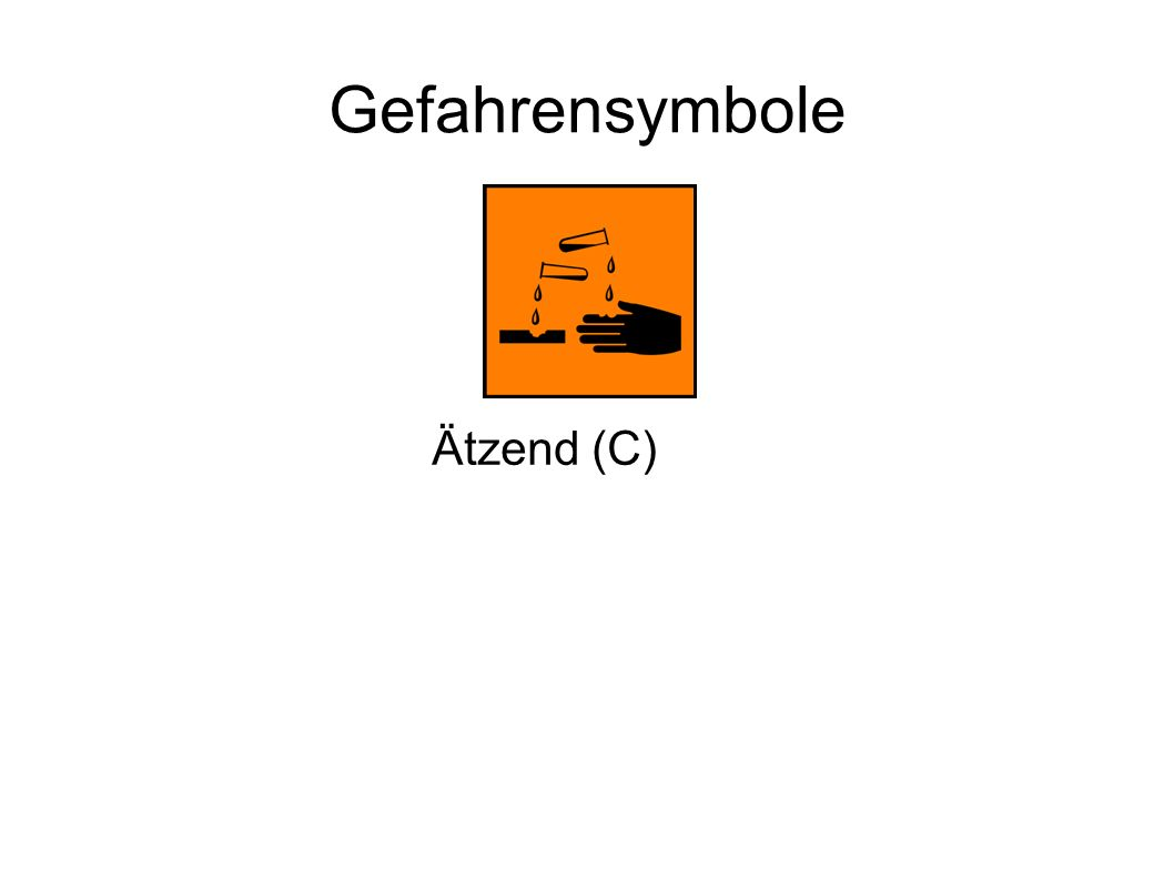 Gefahrensymbole Ätzend (C)