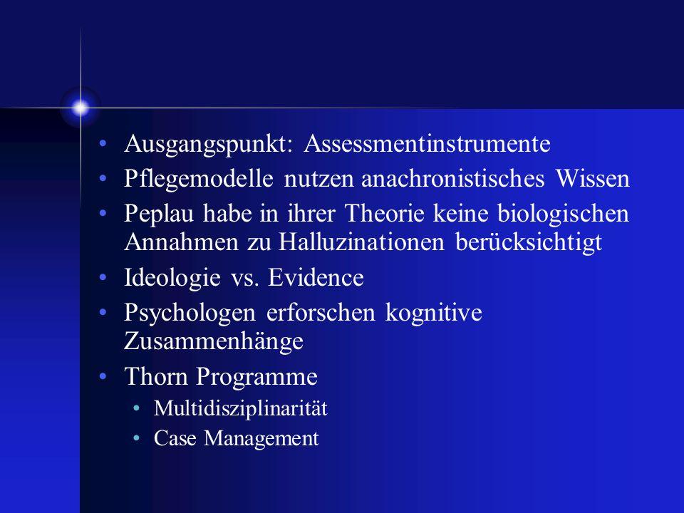 Ausgangspunkt: Assessmentinstrumente