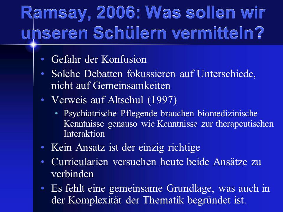 Ramsay, 2006: Was sollen wir unseren Schülern vermitteln