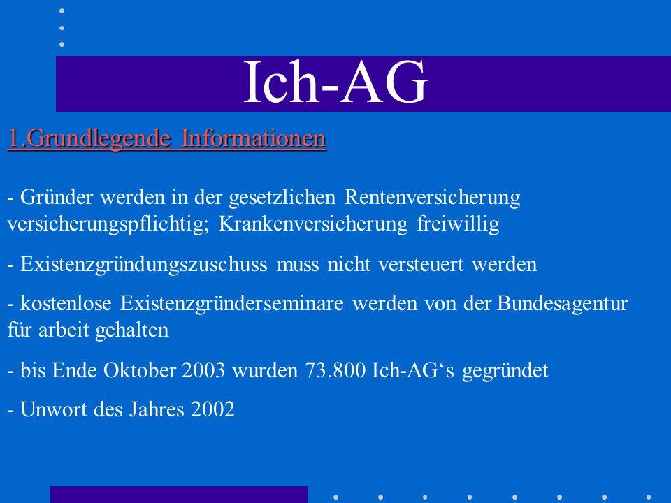 Ich-AG 1.Grundlegende Informationen