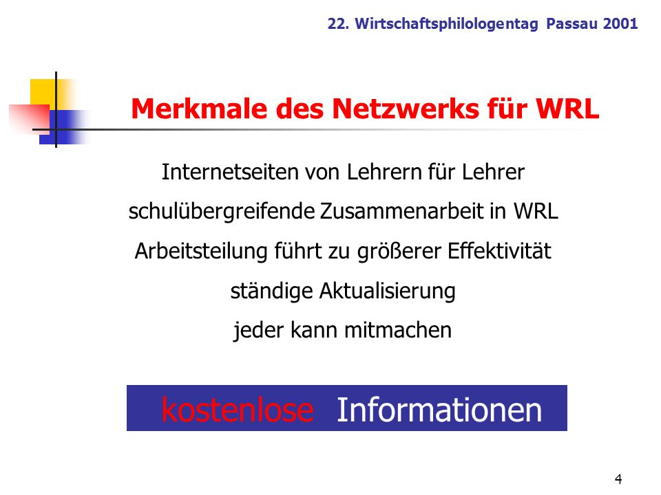 Merkmale des Netzwerks für WRL
