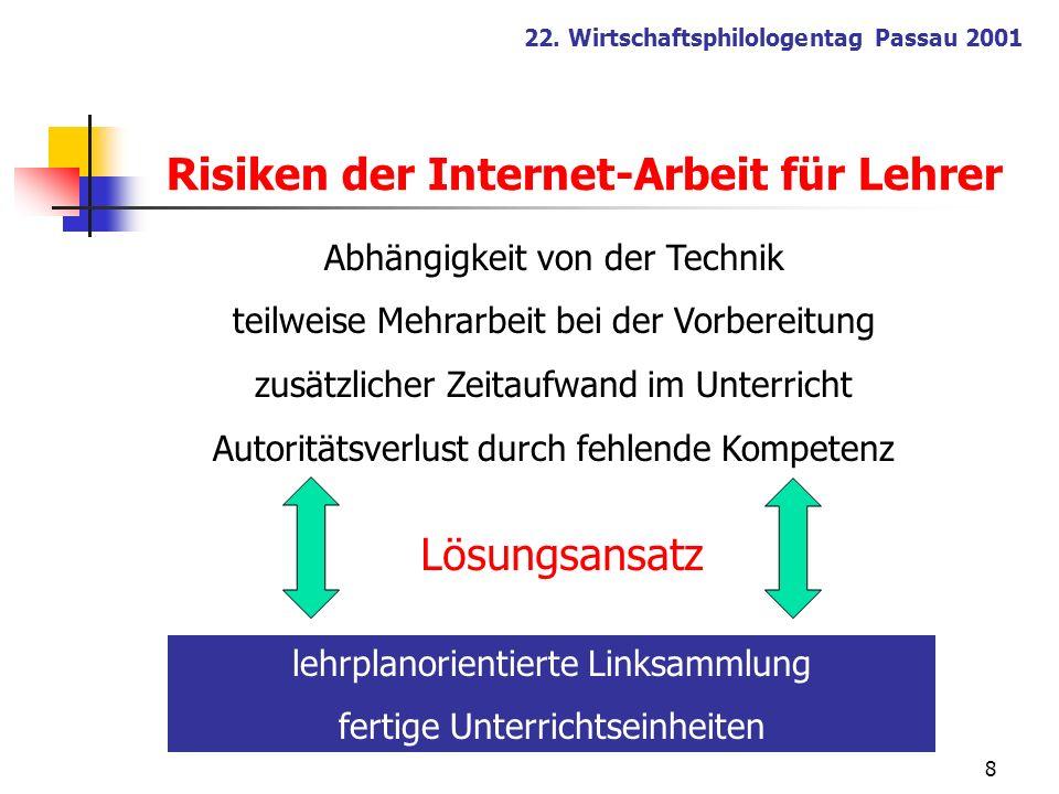 Risiken der Internet-Arbeit für Lehrer