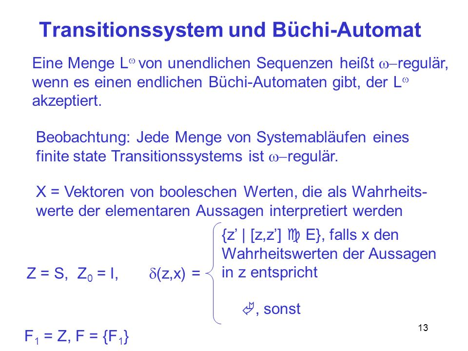 Transitionssystem und Büchi-Automat