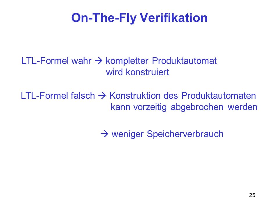 On-The-Fly Verifikation