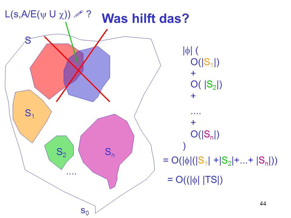 Was hilft das L(s,A/E(y U c))  S |f| ( O(|S1|) + .... O(|Sn|) )