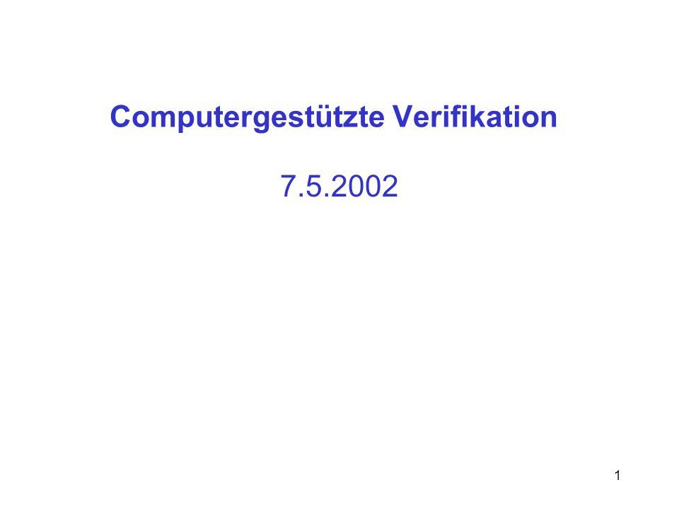 Computergestützte Verifikation