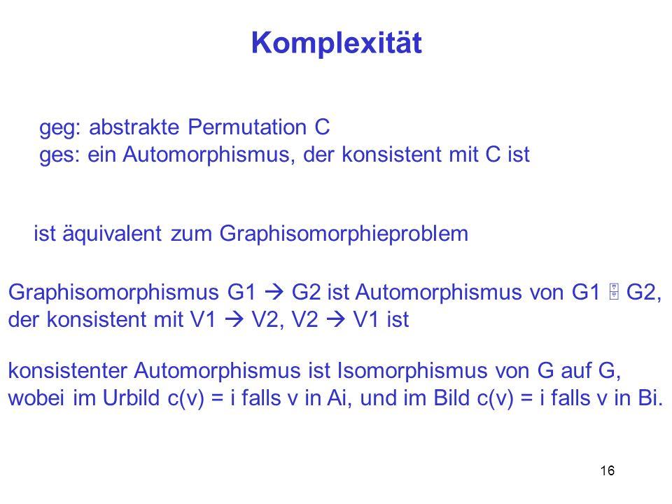 Komplexität geg: abstrakte Permutation C
