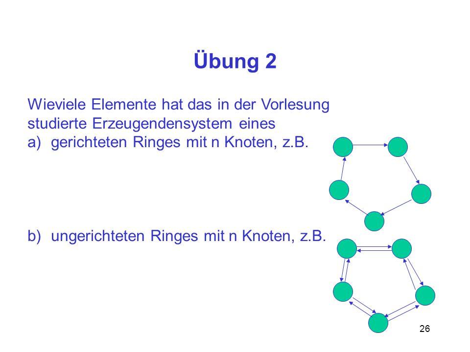 Übung 2 Wieviele Elemente hat das in der Vorlesung