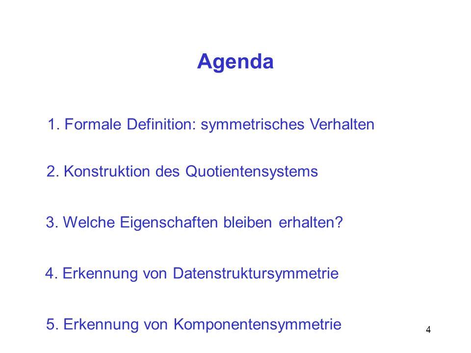 Agenda 1. Formale Definition: symmetrisches Verhalten