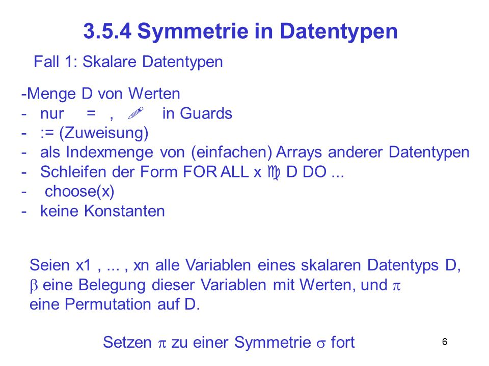 3.5.4 Symmetrie in Datentypen