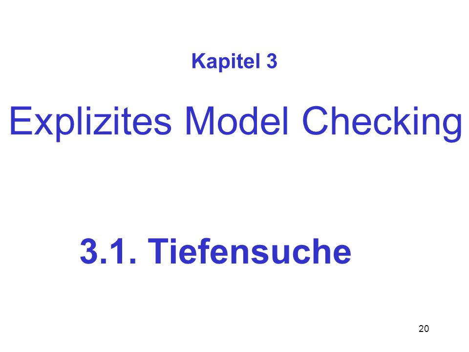 Explizites Model Checking