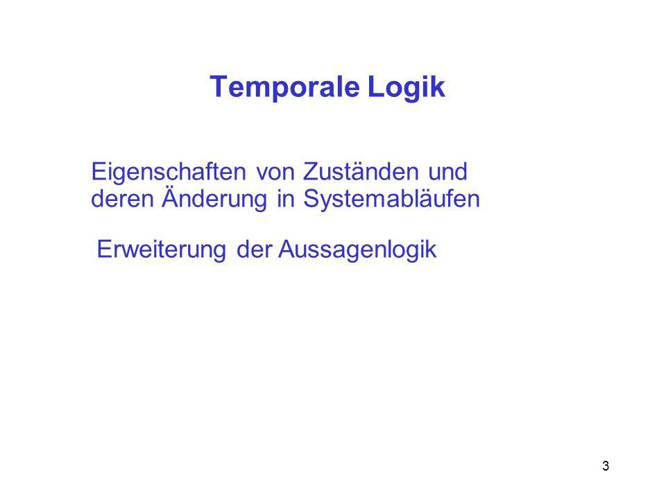Temporale Logik Eigenschaften von Zuständen und