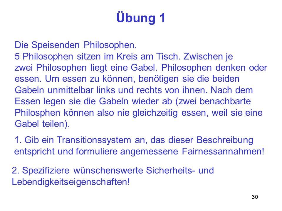 Übung 1 Die Speisenden Philosophen.