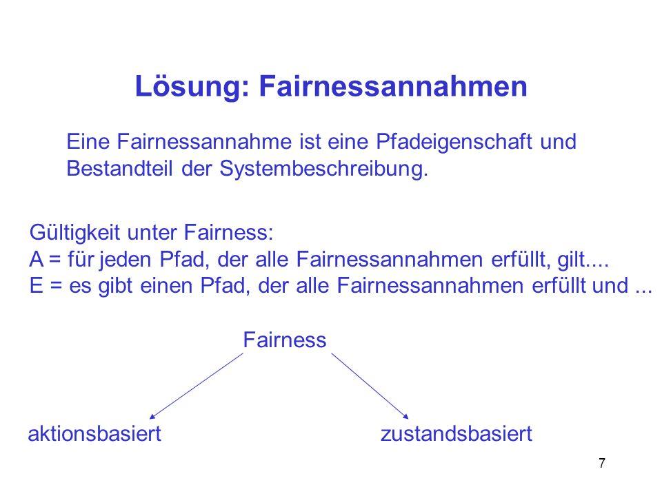 Lösung: Fairnessannahmen